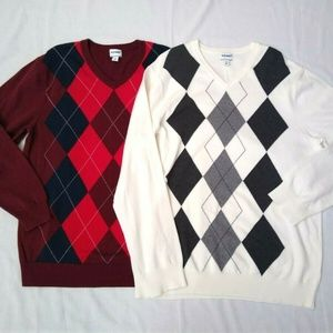 Lot of 2 OLD NAVY Mens V-NECK SWEATER XL